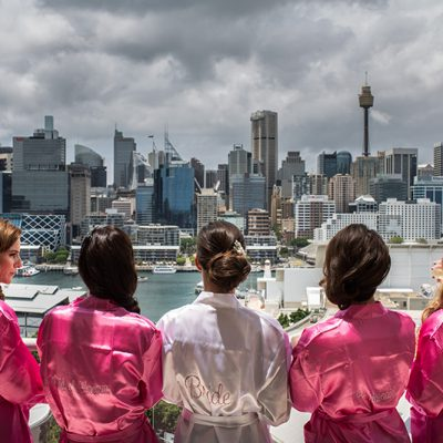 Brides overlook Sydney