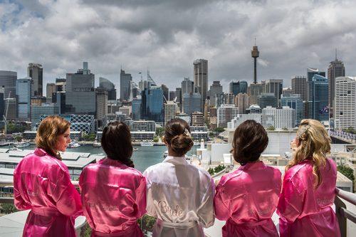Brides overlook Sydney