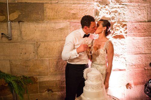 Bride and Groom great gatsby wedding