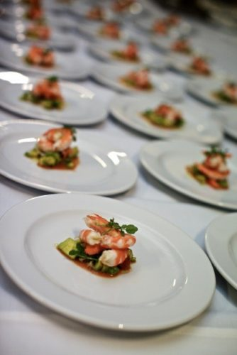 Entrees plated