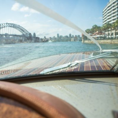 Sydney Harbor wedding boat