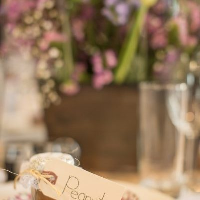 Labelled wedding jars