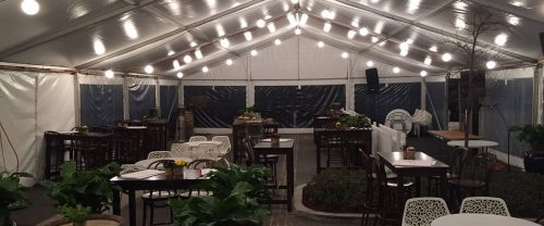 Patio setup outdoor event