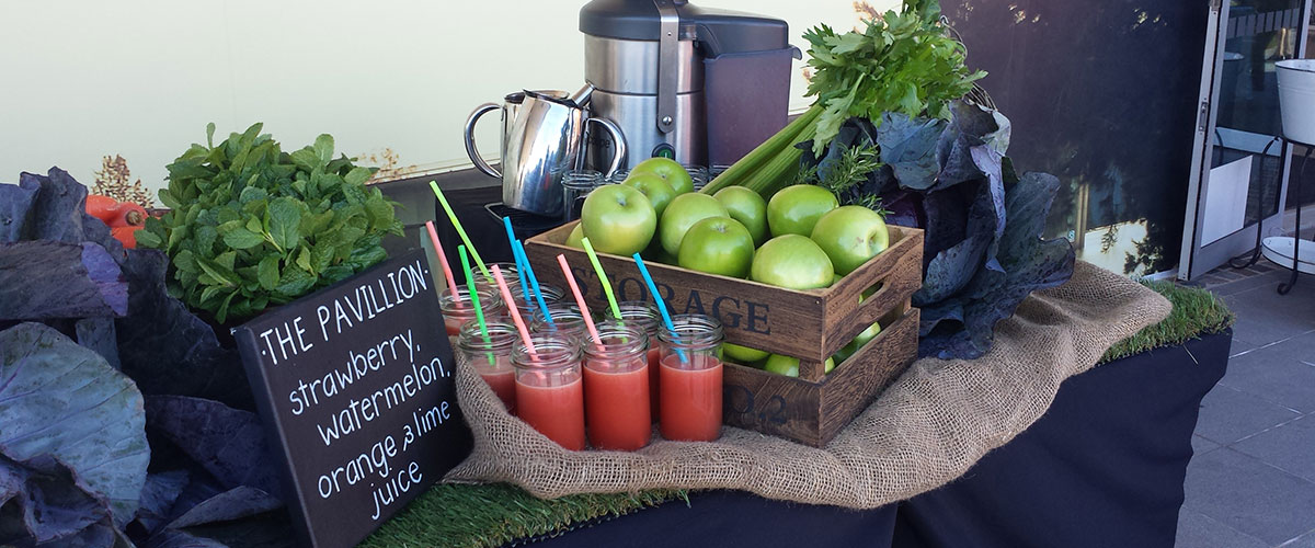 Fresh juice catering