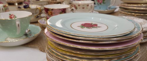 Wedding catering plates