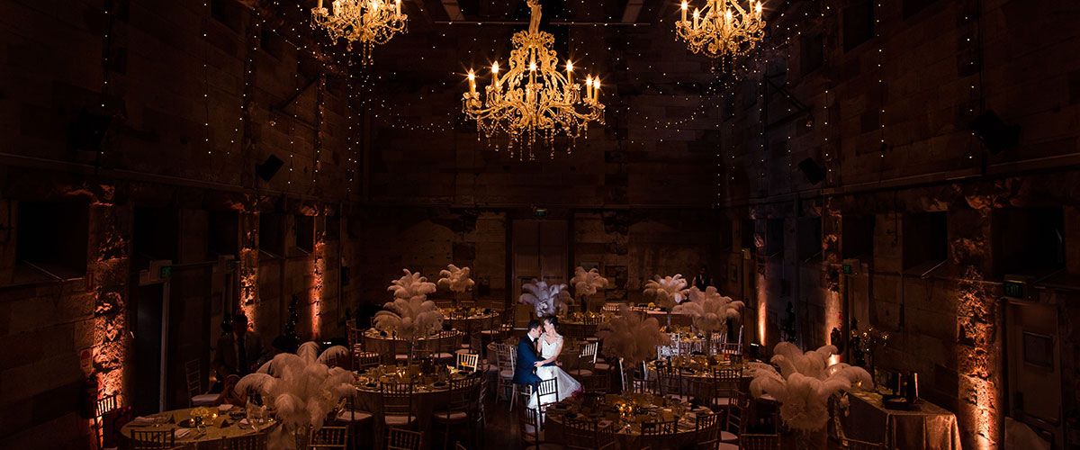 Bride and Groom in Wedding Venue
