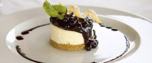 Wedding dessert blueberry cheesecake
