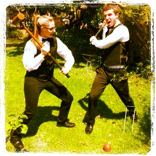 Croquet at wedding