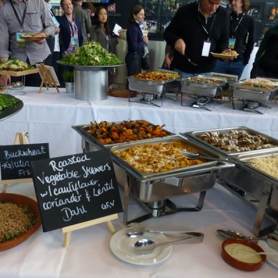 Hot food buffet catering