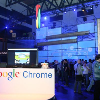 Google Chrome section under construction event