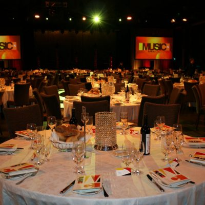 APRA Music Awards tables layout