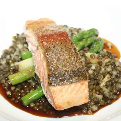 Main salmon dish