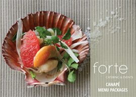 Forte Catering Canapes Menu
