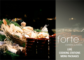 Forte Catering Live Cooking Menu