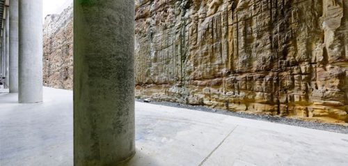 The Cutaway Rock Wall
