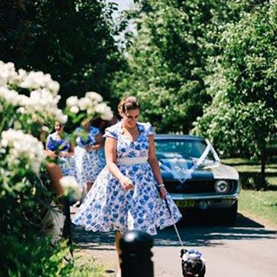 Beka & Con Wedding Flower Dog
