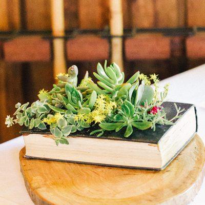 Beka & Con Wedding book and plants