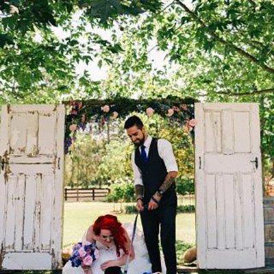 Beka & Con Wedding with dog