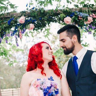 Beka & Con Wedding Under Archway