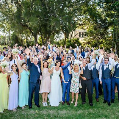 Ange & Beau Wedding Group Photo Celebrations