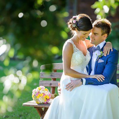 Ange & Beau Wedding Bride and Groom Sitting