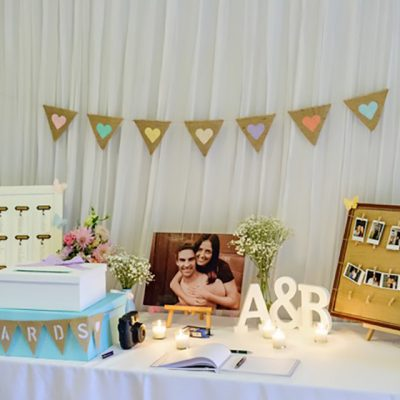 Ange & Beau Wedding Photo Table
