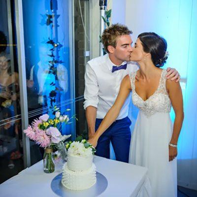 Ange & Beau Wedding Cutting of Cake