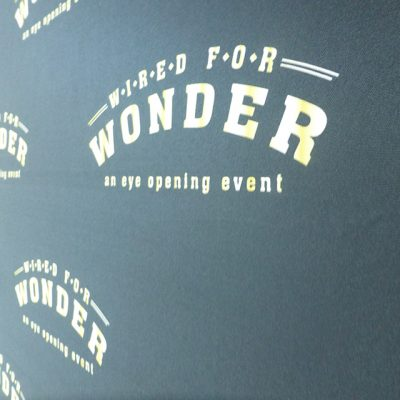 Wired for Wonder 2015 Logo on Wall