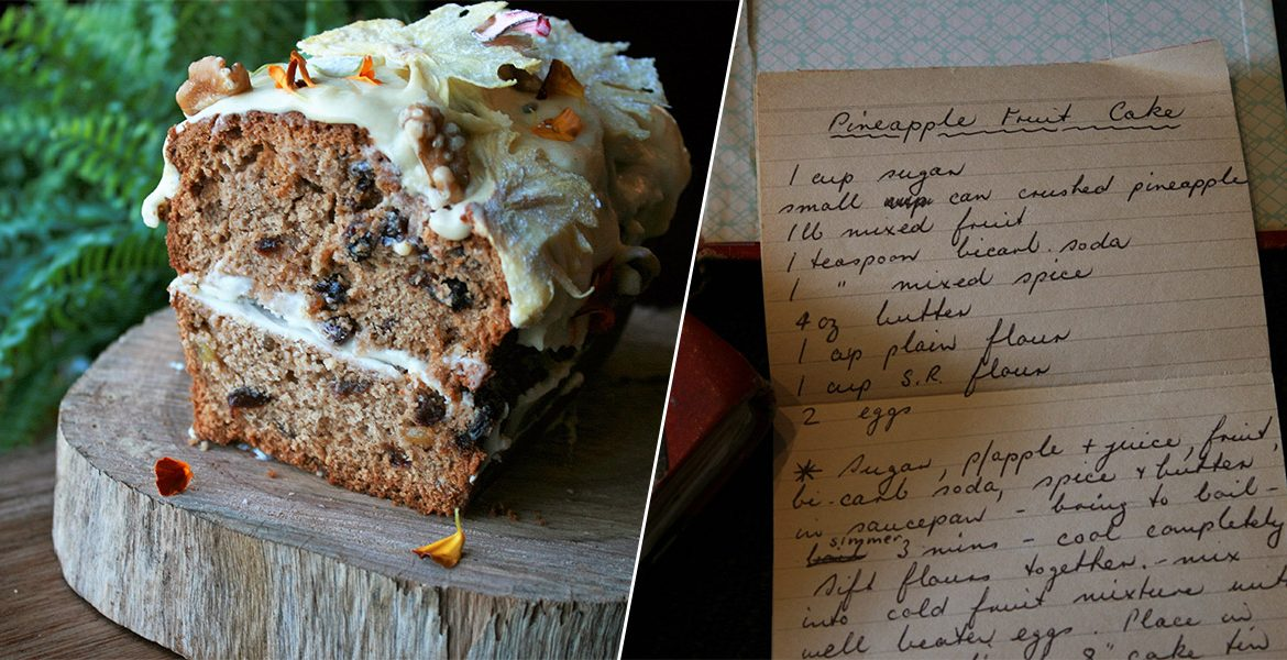 Pineapple Fruit Cake Recipe