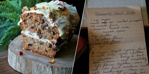 Pineapple Fruit Cake Recipe