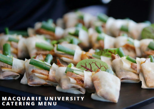 Macquarie University Catering Menu by Forte Catering & Events